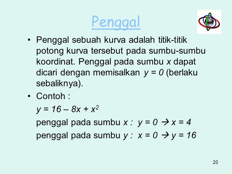 Fungsi Dari Dua Atau Lebih Variabel Bebas x2x2 x1x1 y1y1 y2y2 x y z (x 2, y 2, z2) 19