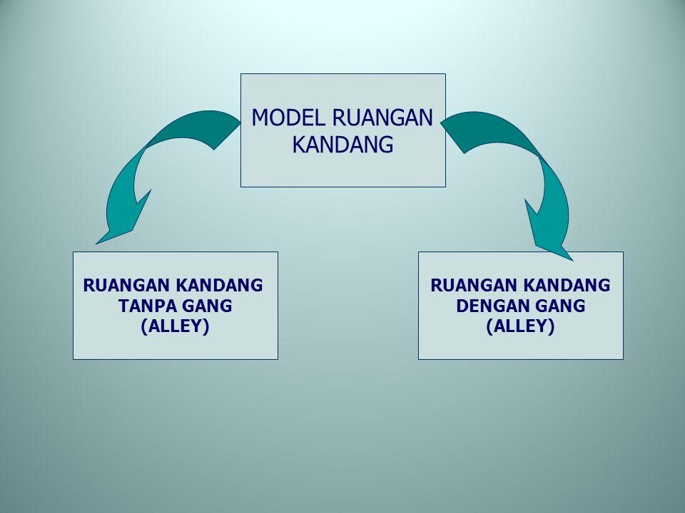 MODEL RUANGAN KANDANG RUANGAN KANDANG TANPA GANG (ALLEY) RUANGAN KANDANG DENGAN GANG (ALLEY)
