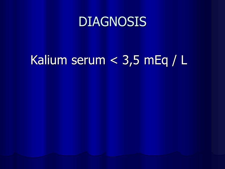 DIAGNOSIS Kalium serum < 3,5 mEq / L