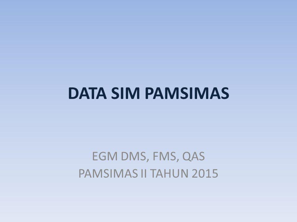 DATA SIM PAMSIMAS EGM DMS, FMS, QAS PAMSIMAS II TAHUN 2015