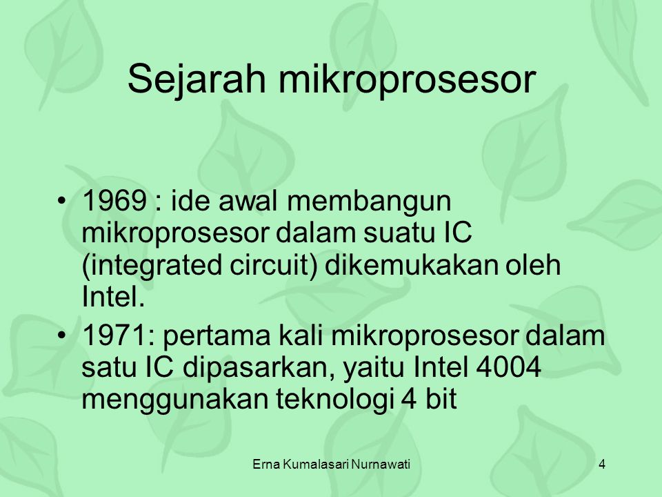 Erna Kumalasari Nurnawati15 Data Bus (8) Address Bus (16) Blok Diagram MIKROPROSESSOR CPU RAMROM I/O Port