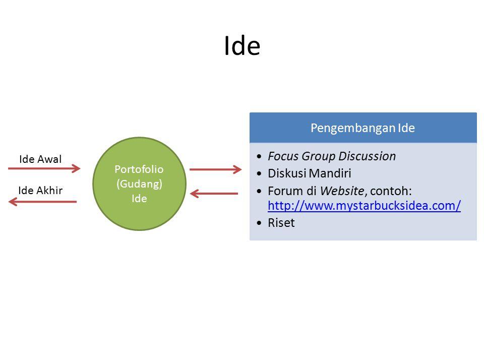 Ide Pengembangan Ide Focus Group Discussion Diskusi Mandiri Forum di Website, contoh: http://www.mystarbucksidea.com/ http://www.mystarbucksidea.com/