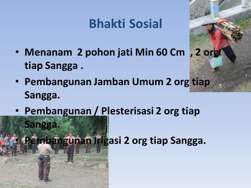 Bhakti Sosial Menanam 2 pohon jati Min 60 Cm, 2 org tiap Sangga.