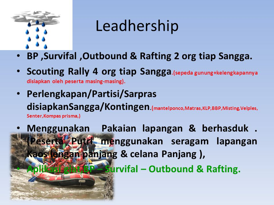 BP,Survifal,Outbound & Rafting 2 org tiap Sangga.
