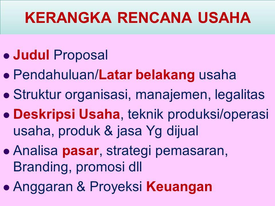 ASPEK ANALISIS KELAYAKAN BISNIS 1. Aspek legalitas/ manajemen. 2. Aspek pemasaran. 3. Aspek produksi/ operasi. 4. Aspek keuangan.