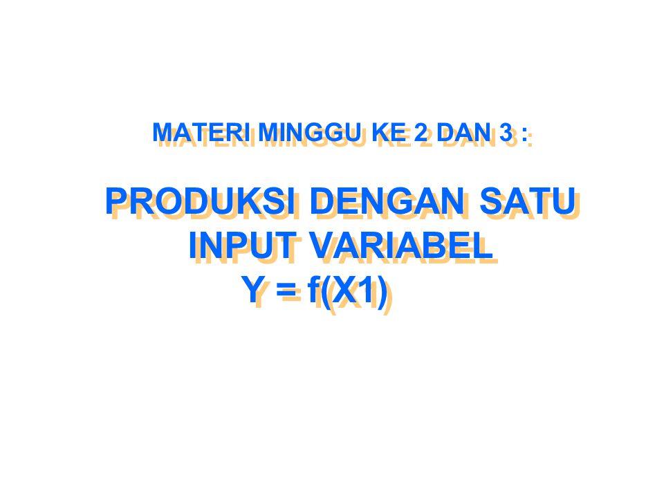 ELASTISITAS PRODUKSI  Elastisitas produksi (  ) mengukur kepekaan output terhadap perubahan input  Y  X  Y  X   = ── ── Y X Y X  Y X  Y X  Y X  Y X   = ── × ── →  = ── × ── Y  X  X Y Y  X  X Y Dalam hal  X → 0