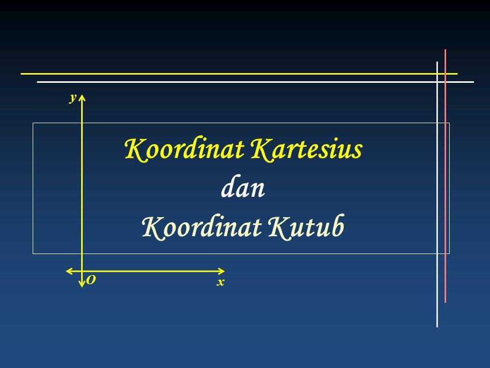 Koordinat Kartesius dan Koordinat Kutub O y x