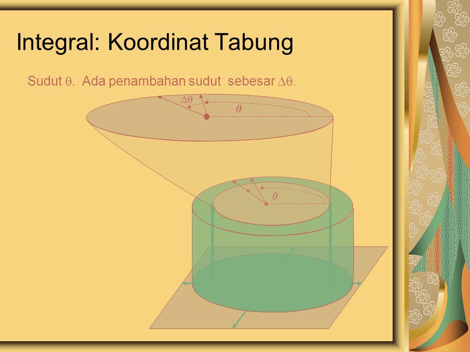Integral: Koordinat Tabung Sudut  Ada penambahan sudut sebesar .   