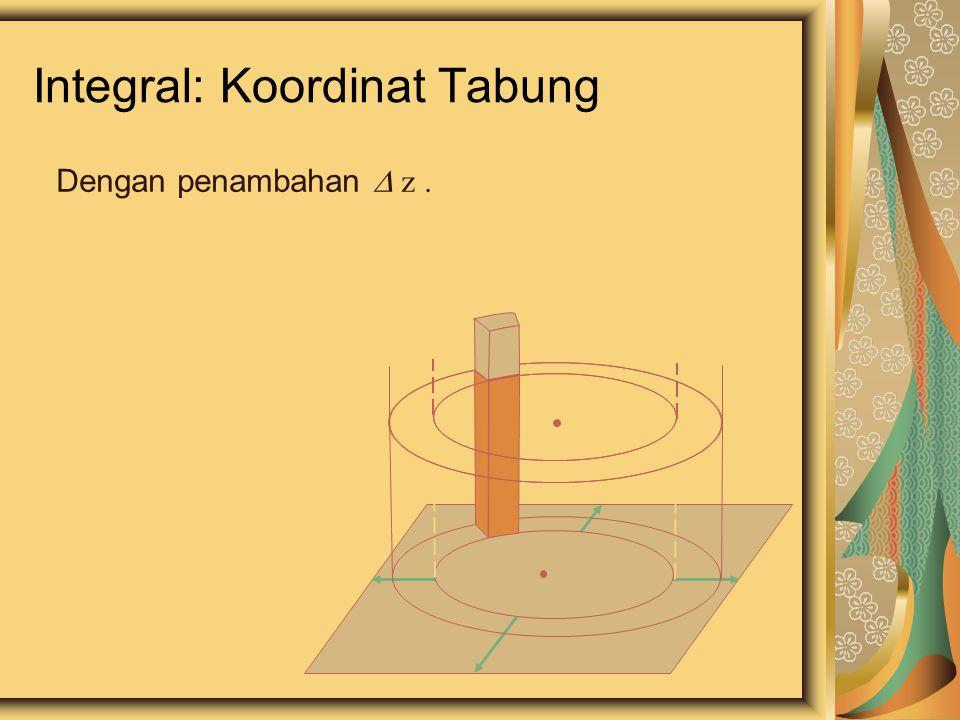 Integral: Koordinat Tabung Dengan penambahan  z.
