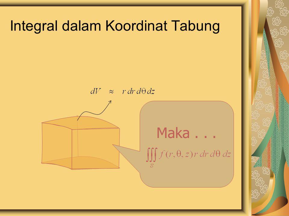 Integral dalam Koordinat Tabung Maka...