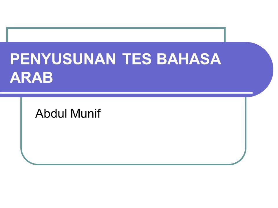 Abdul Munif PENYUSUNAN TES BAHASA ARAB