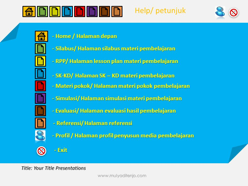 www.mulyaditenjo.com Title: Your Title Presentations Title Presentations Sub Title Presentations Text your name here..