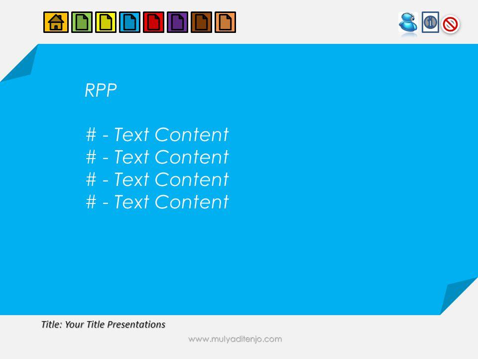 www.mulyaditenjo.com RPP # - Text Content