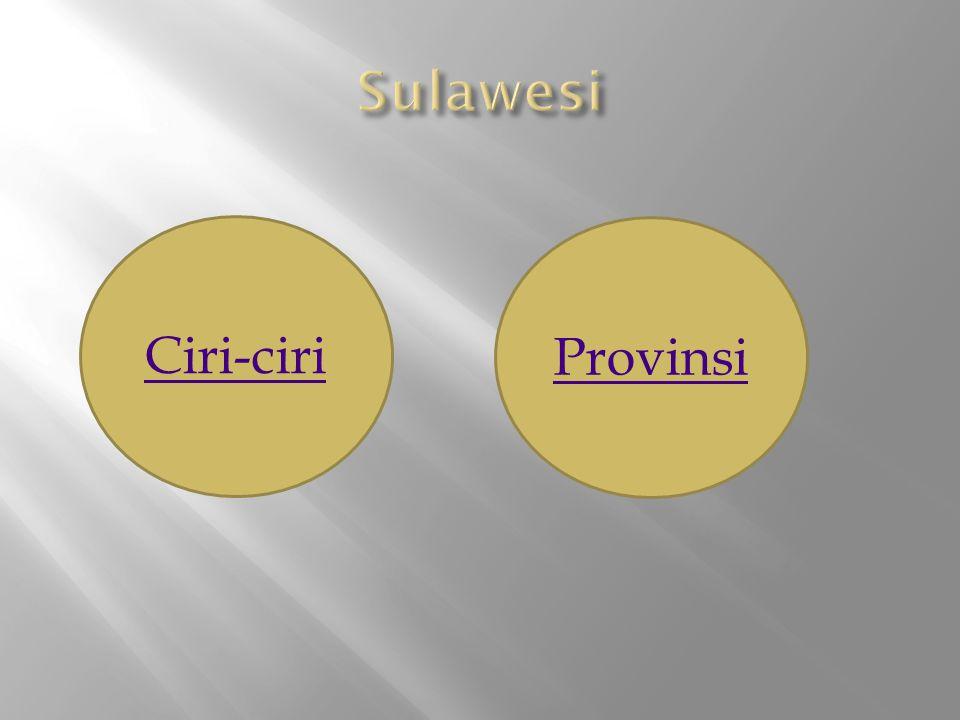 Ciri-ciri Provinsi