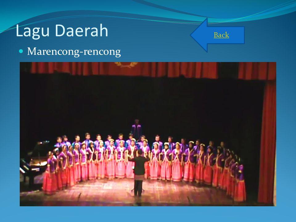 Lagu Daerah Marencong-rencong Back
