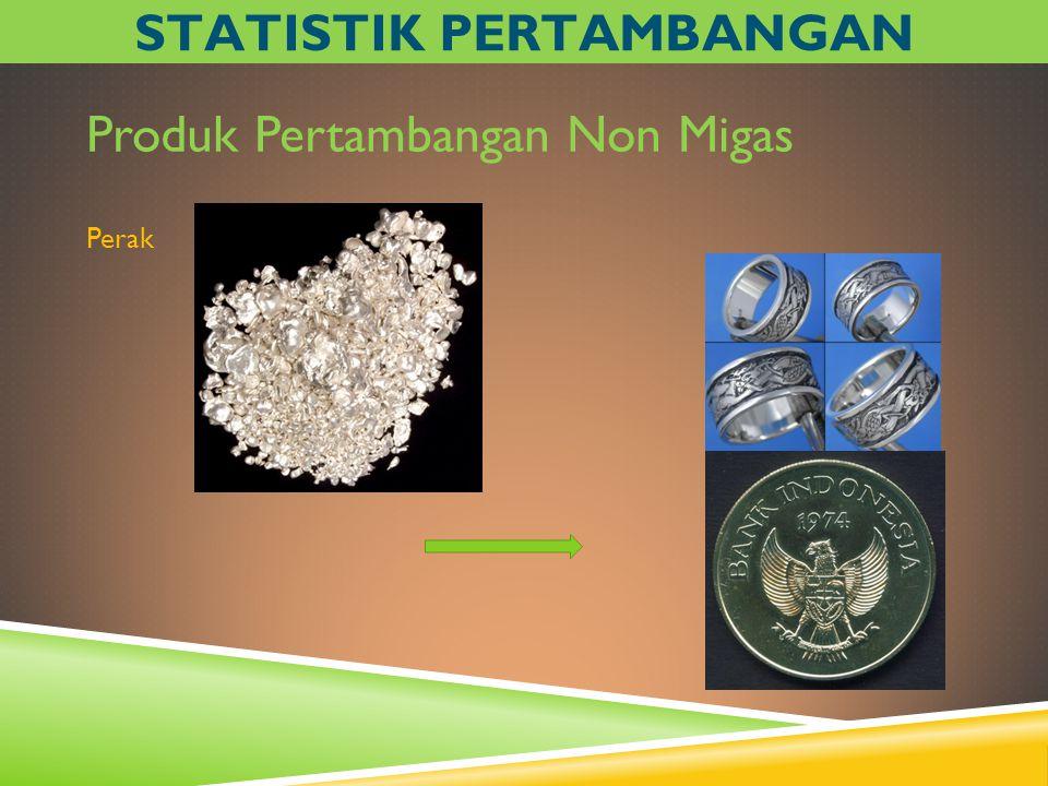 Produk Pertambangan Non Migas Perak STATISTIK PERTAMBANGAN