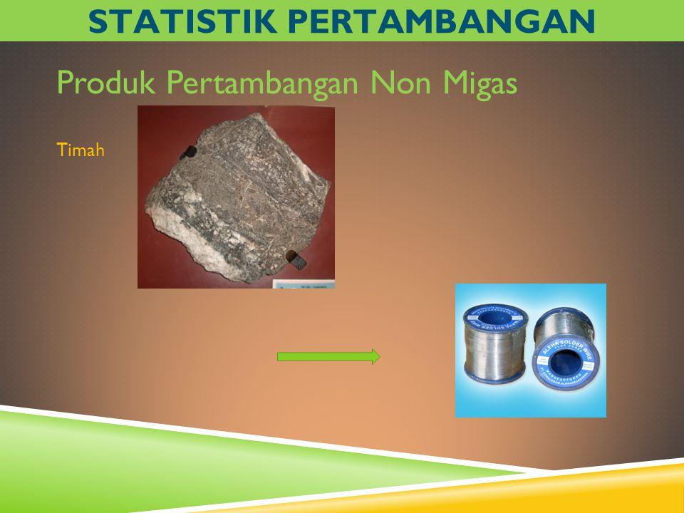 Produk Pertambangan Non Migas Timah STATISTIK PERTAMBANGAN
