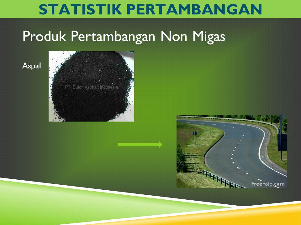 Produk Pertambangan Non Migas Aspal STATISTIK PERTAMBANGAN
