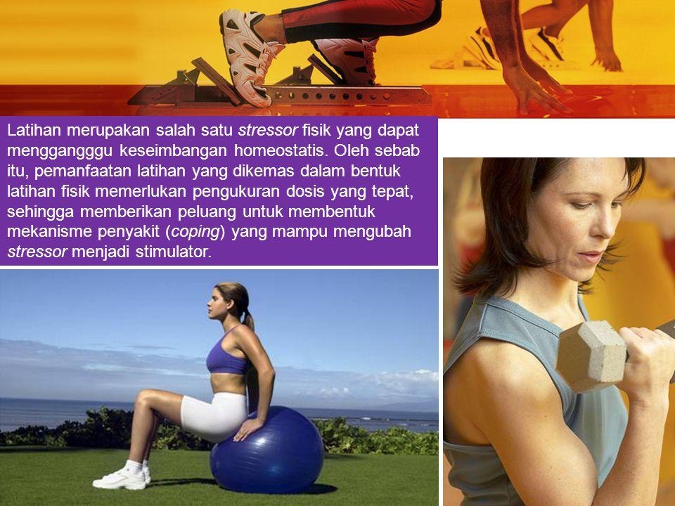 Bila dosis latihan yang diberikan tidak tepat, maka stressor tersebut akan mengganggu keseimbangan (homeostatis) dalam tubuh dan dapat menyebabkan masalah kelainan biologis/patologis (Sugiharto, 2003)