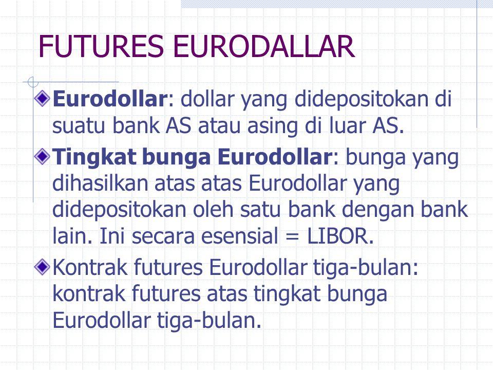 FUTURES OBLIGASI PEMERINTAH Penentuan harga futures mengasumsikan bahwa jika obligasi termurah untuk penyerahan dan tanggal penyerahan diketahui, kont