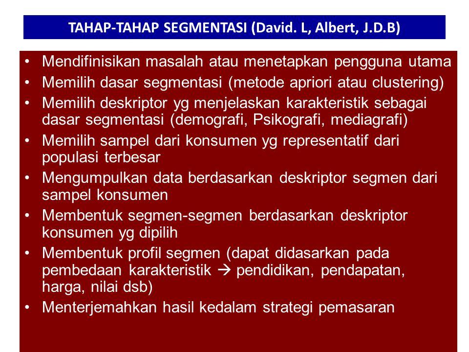 TAHAP-TAHAP SEGMENTASI (David.