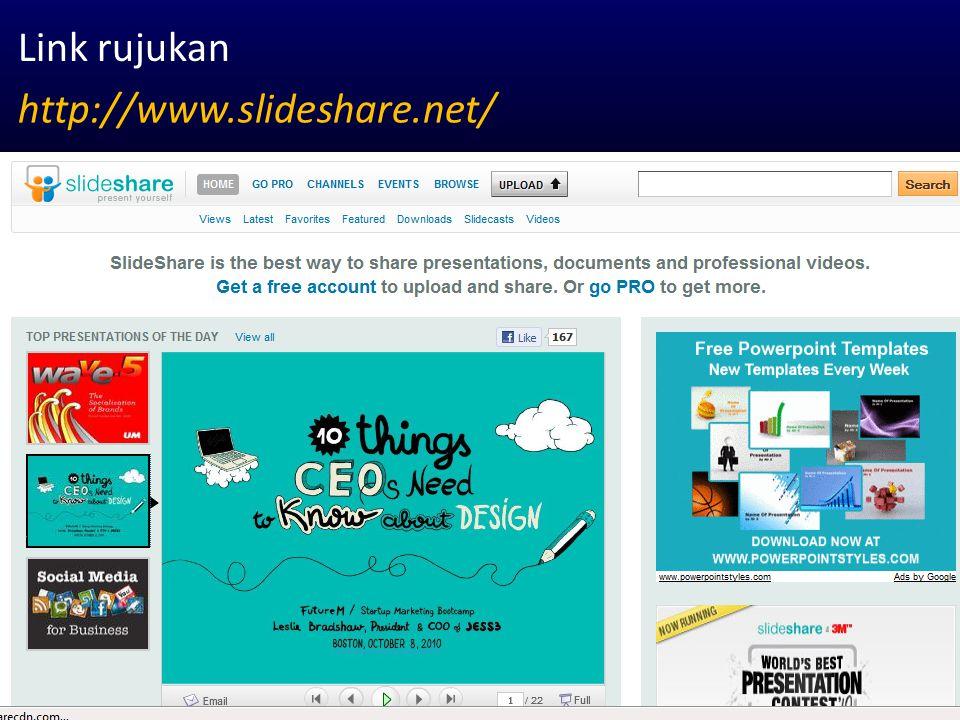 Link rujukan http://www.slideshare.net/
