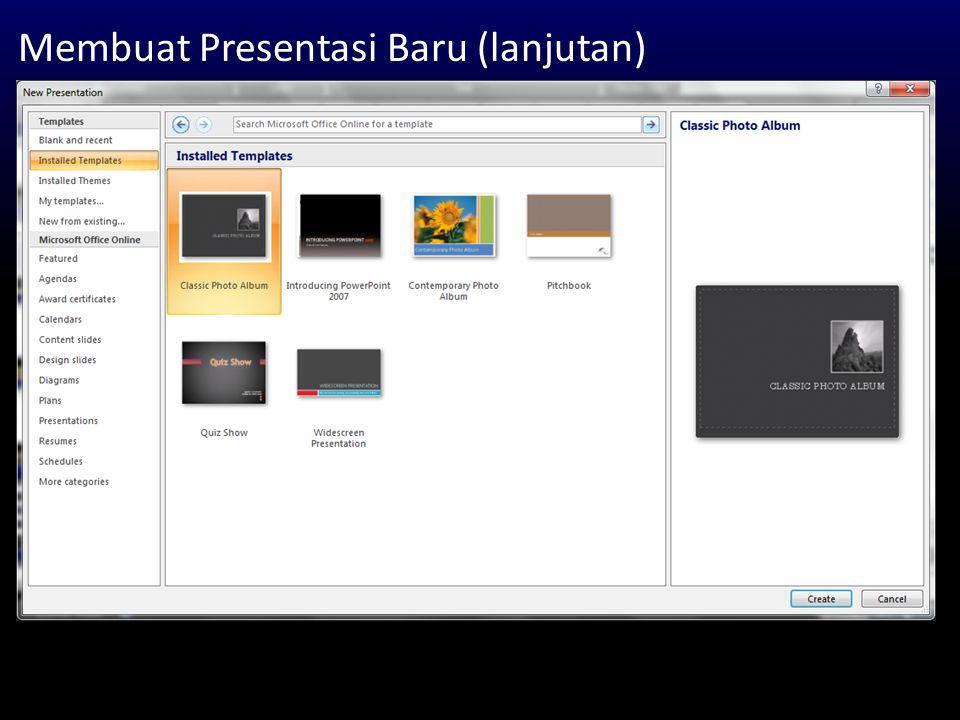 Animasi Objek (lanjutan) Mengatur Parameter Animasi