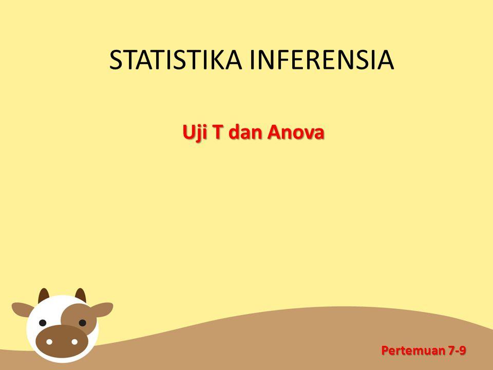STATISTIKA INFERENSIA Uji T dan Anova Pertemuan 7-9