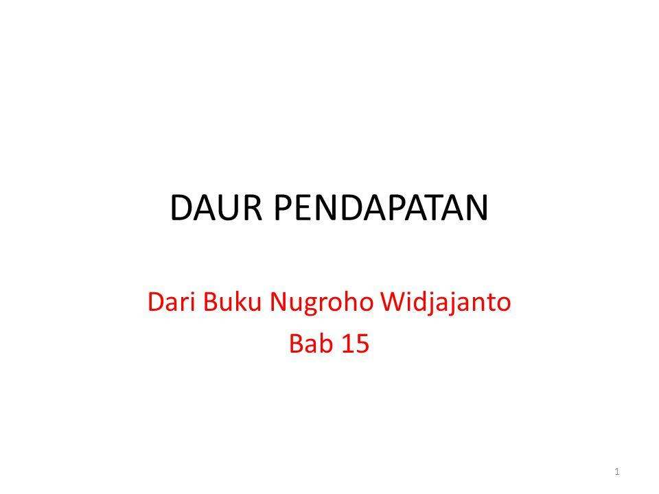 DAUR PENDAPATAN Dari Buku Nugroho Widjajanto Bab 15 1