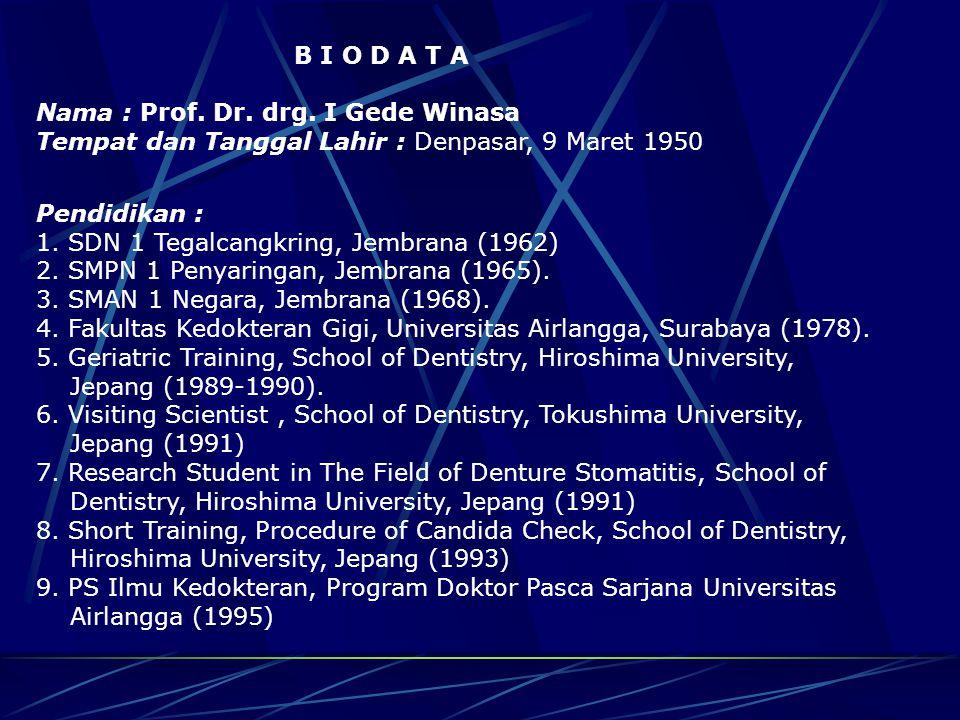 TERIMA KASIH Pemerintah Kabupaten Jembrana Jalan.Surapati No.1, Negara, Bali Tel.
