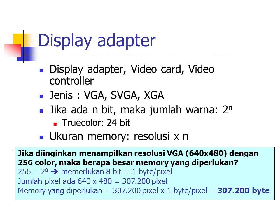 Monitor LCD Passive Matrix, transistor ada di tiap baris dan kolom, supaya gambar jelas harus dilihat persis dari depan monitor.