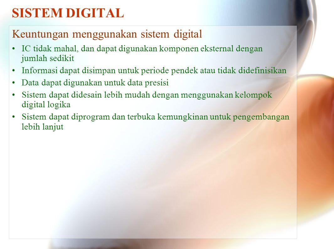 SISTEM DIGITAL Membuat sinyal digital Pengaruh kontak lambung tidak diinginkan, karena meskipun waktu terjadi pelambungan sangat singkat, tapi perangkat logika sudah dapat mendeteksi perubahan tinggi, rendah, dan tinggi pada titik A.