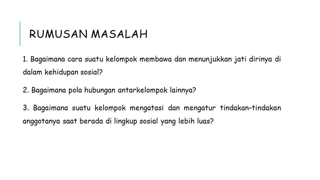 RUMUSAN MASALAH 1.