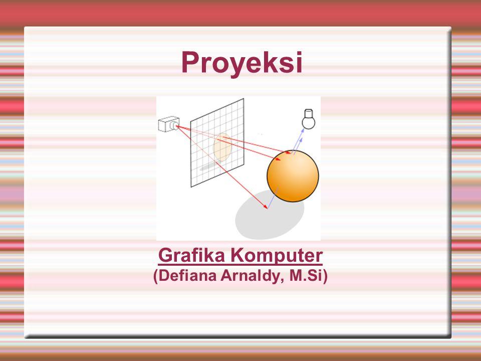 Proyeksi Grafika Komputer (Defiana Arnaldy, M.Si)