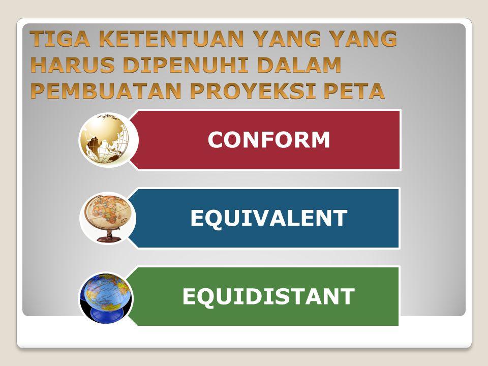 CONFORM EQUIVALENT EQUIDISTANT