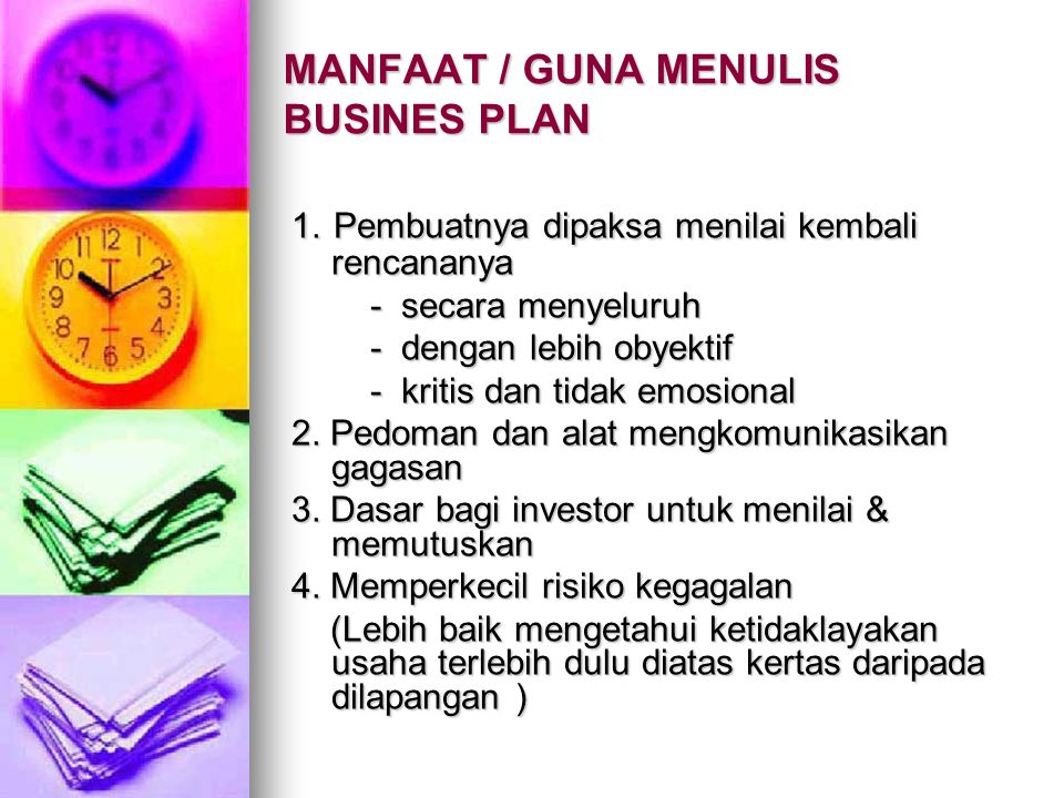 STRUKTUR ISI BUSINESS PLAN Daftar isi (Table of contents) Daftar isi (Table of contents) Ringkasan (Executive Summary) Ringkasan (Executive Summary) Deskripsi Perusahaan (The Company) Deskripsi Perusahaan (The Company) Produk/Jasa (Product & Services) Produk/Jasa (Product & Services) Pemasaran (Marketing Plan) Pemasaran (Marketing Plan) Manajemen & Organisasi Manajemen & Organisasi Struktur Modal (Capitalization & Structure) Struktur Modal (Capitalization & Structure) Keuangan dan Rencana Pendanaan Keuangan dan Rencana Pendanaan Lampiran - Lampiran Lampiran - Lampiran