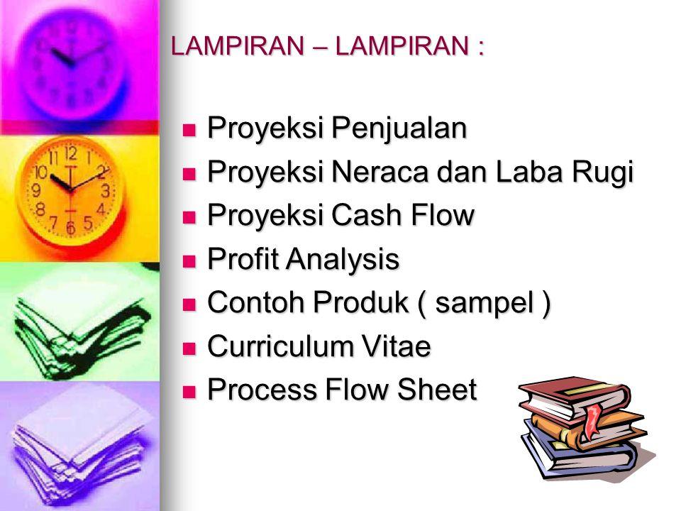 LAMPIRAN – LAMPIRAN : Proyeksi Penjualan Proyeksi Penjualan Proyeksi Neraca dan Laba Rugi Proyeksi Neraca dan Laba Rugi Proyeksi Cash Flow Proyeksi Ca