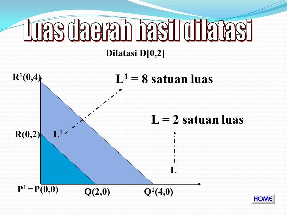 L1L1 P(a,b) L L1L1 L 1 = L. k 0 0 k Dengan dilatasi D[O,k]
