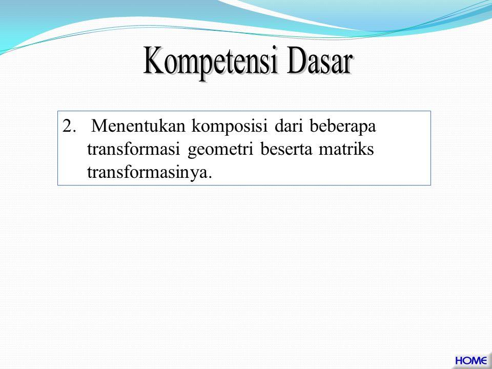1.Menjelaskan arti geometri dari suatu transformasi di bidang 2.