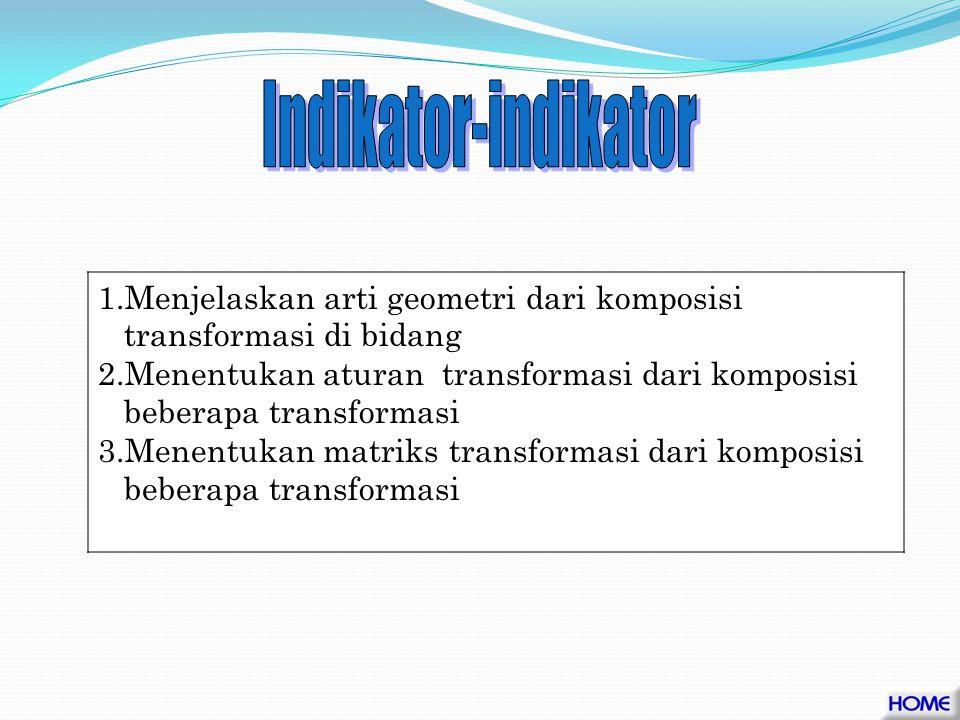 2. Menentukan komposisi dari beberapa transformasi geometri beserta matriks transformasinya.