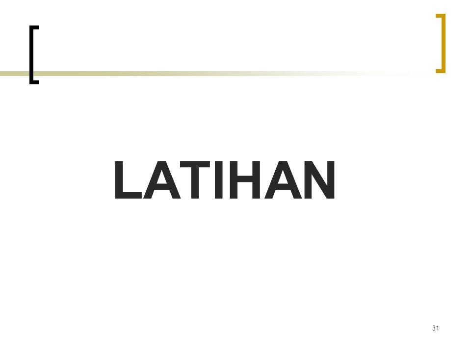 LATIHAN 31