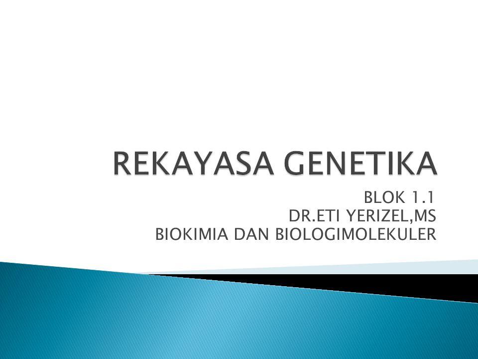 BLOK 1.1 DR.ETI YERIZEL,MS BIOKIMIA DAN BIOLOGIMOLEKULER