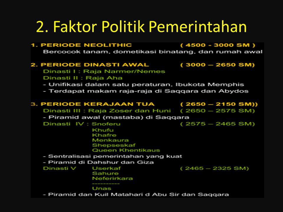 2. Faktor Politik Pemerintahan