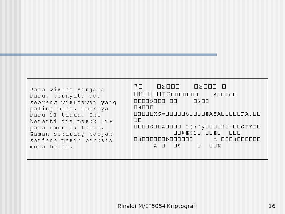 Rinaldi M/IF5054 Kriptografi16