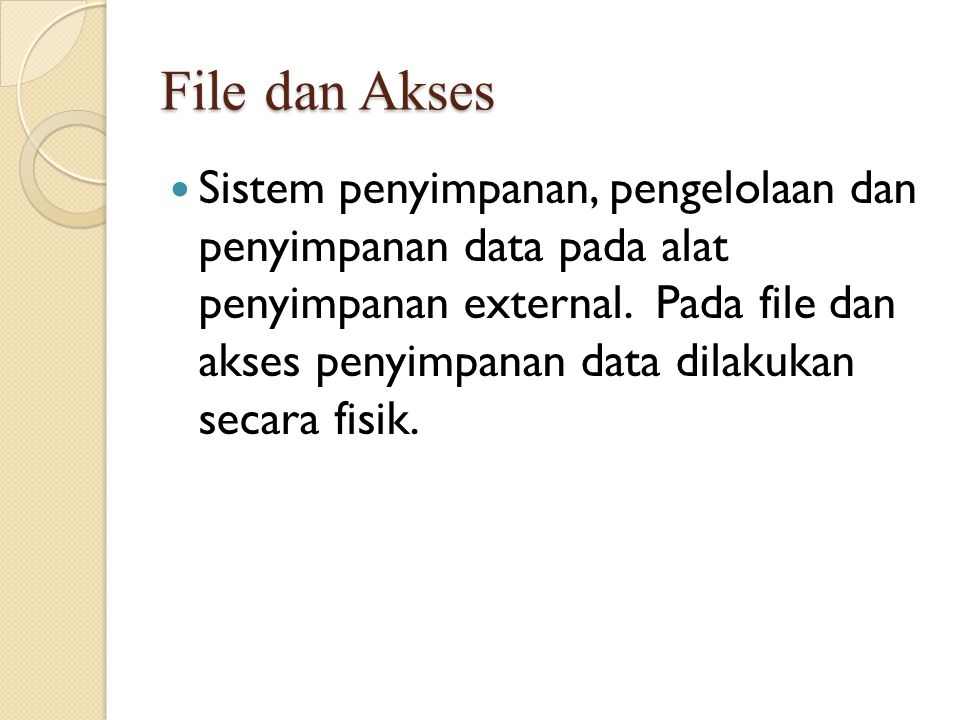 Representasi Data Logic (Lojik) ◦ penggambaran data di level konseptual.