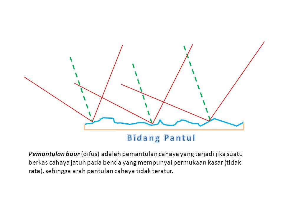 Pemantulan baur (difus) adalah pemantulan cahaya yang terjadi jika suatu berkas cahaya jatuh pada benda yang mempunyai permukaan kasar (tidak rata), s