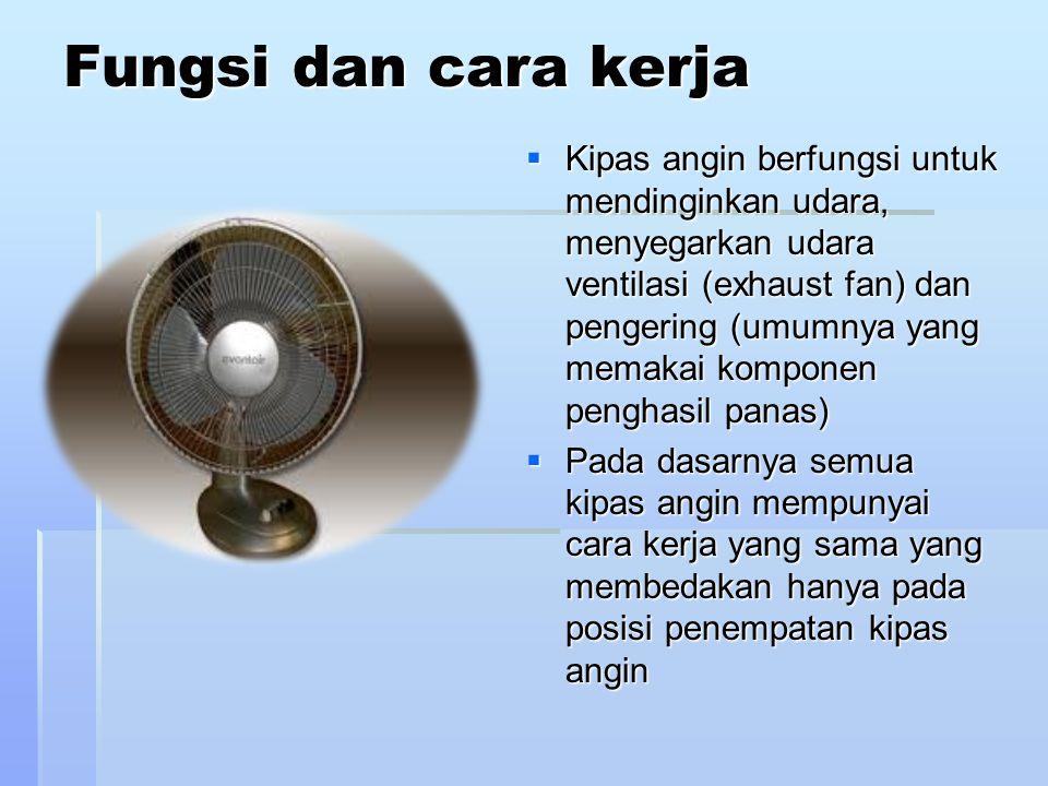 Konstruksi pemasangan orbit-fan/ceiling-fan