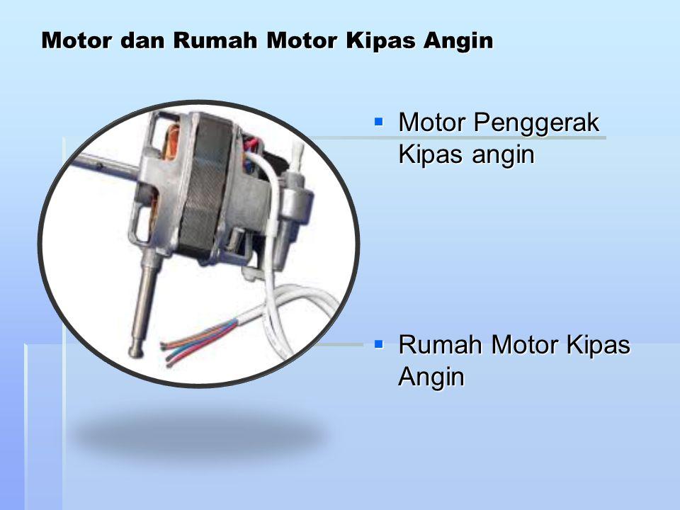 Konstruksi motor kipas angin  motor shaded pole