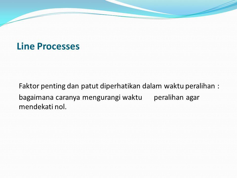 Line Processes Faktor penting dan patut diperhatikan dalam waktu peralihan : bagaimana caranya mengurangi waktuperalihan agar mendekati nol.