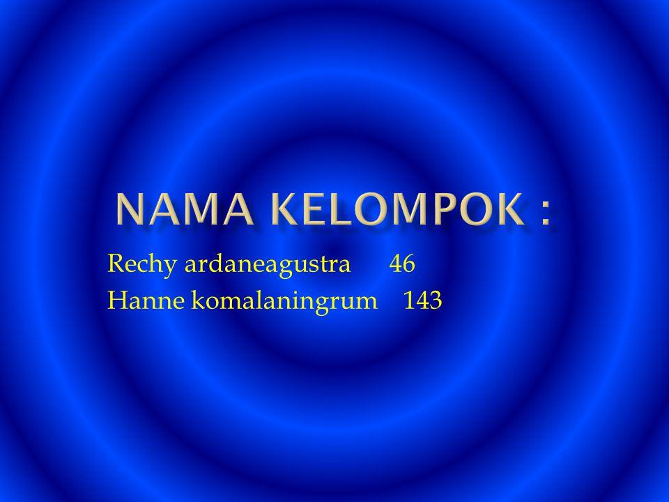 Rechy ardaneagustra 46 Hanne komalaningrum 143
